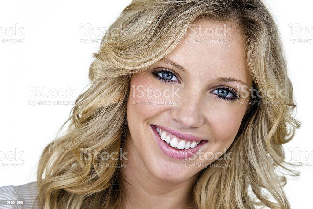Cute woman headshot royalty-free stock photo