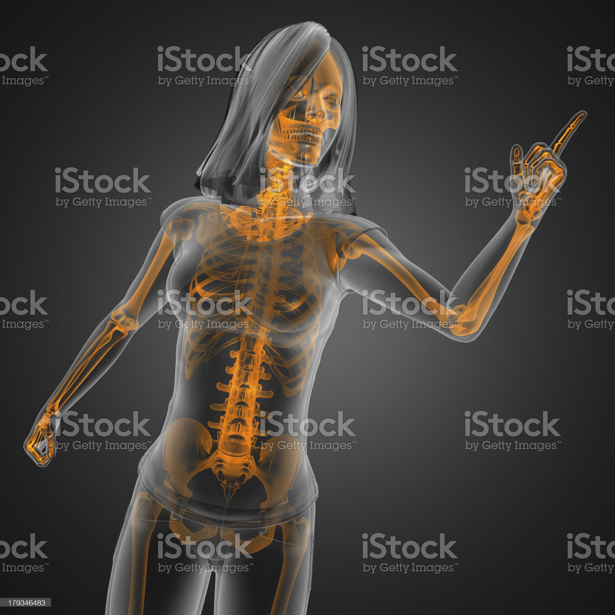 cute woman radiography royalty-free stock photo