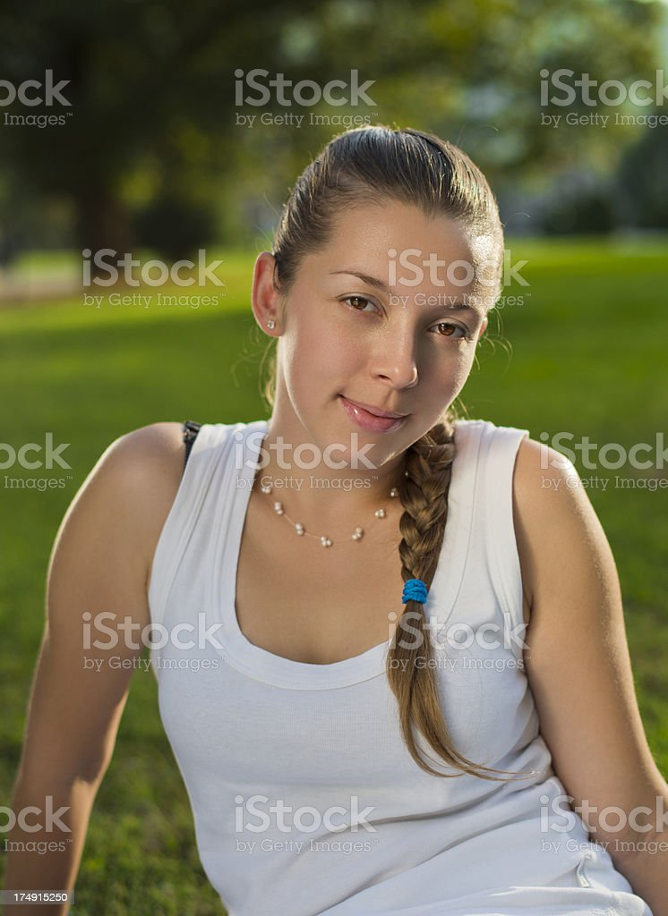Cute young adult royalty-free stock photo