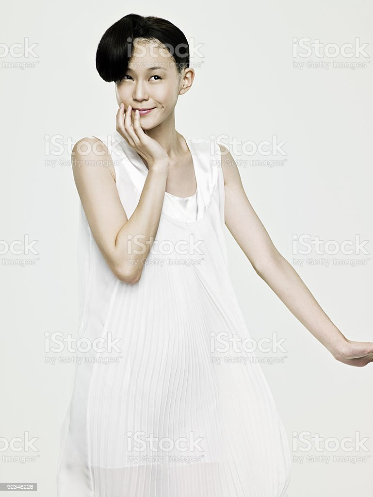 Cute young asian woman royalty-free stock photo