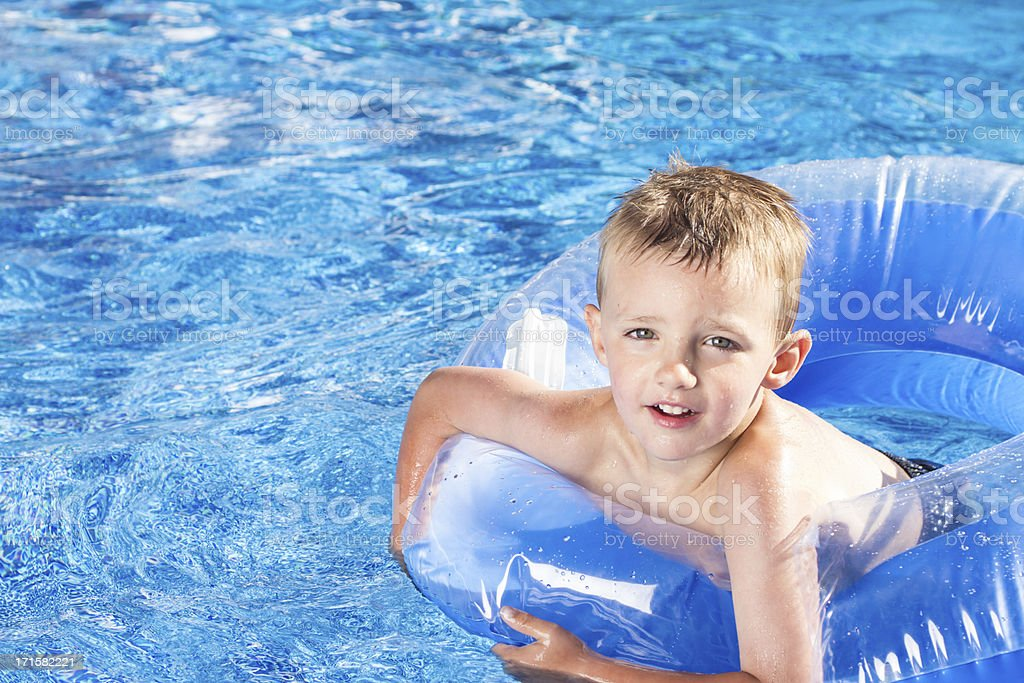 Cute Young Boy in Water royalty-free stock photo