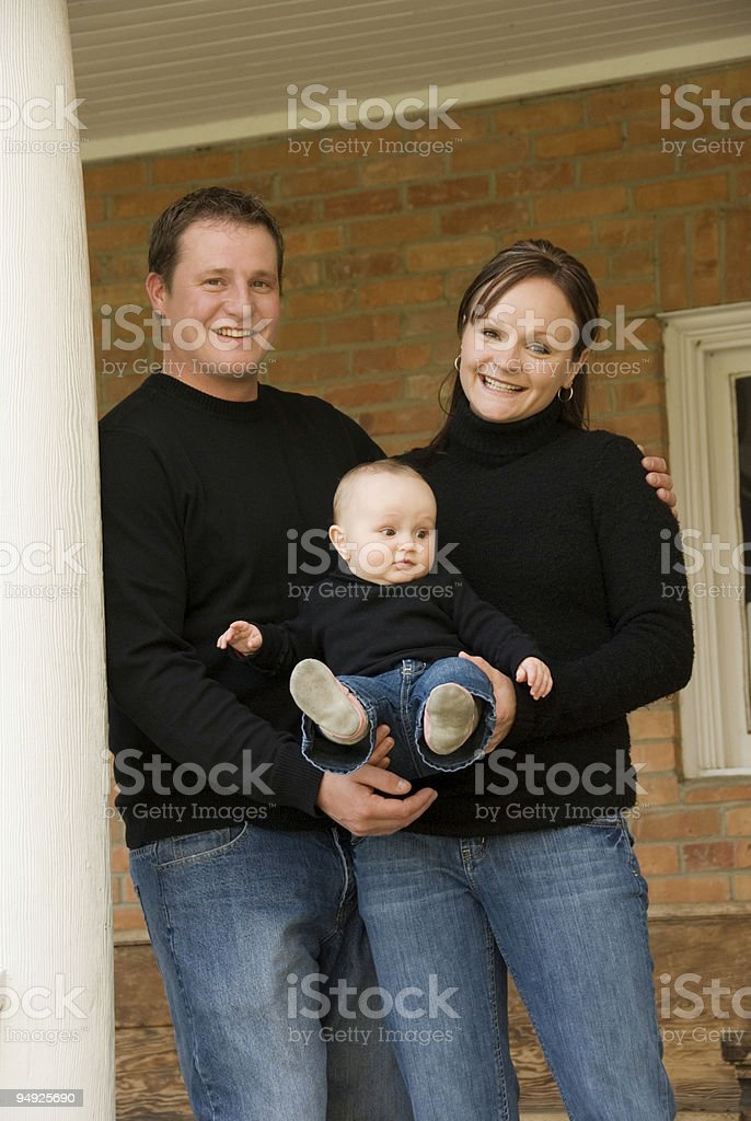 Cute Young Family royalty-free stock photo