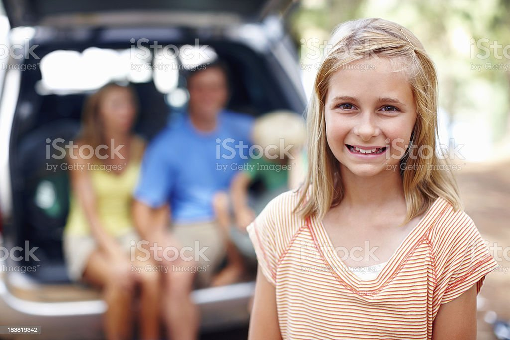 Cute, young girl smiling royalty-free stock photo