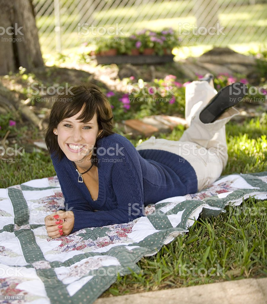 Cute Young Lady royalty-free stock photo