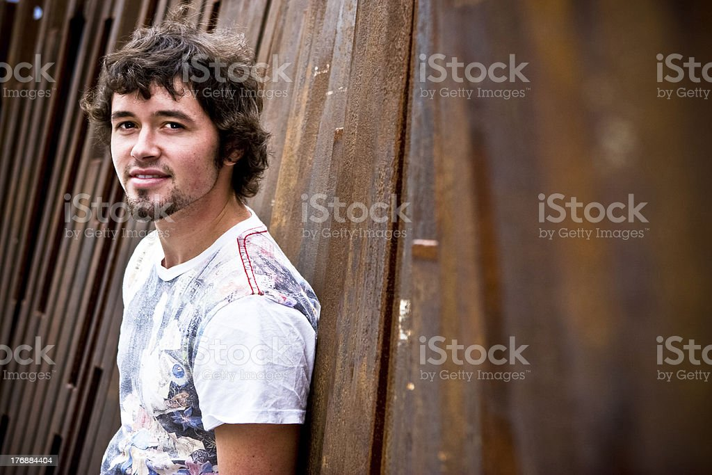 Cute Young Man stock photo