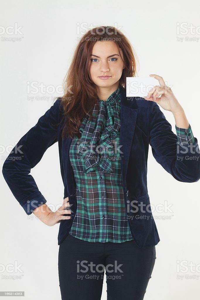 Hübsche junge Frau Lizenzfreies stock-foto