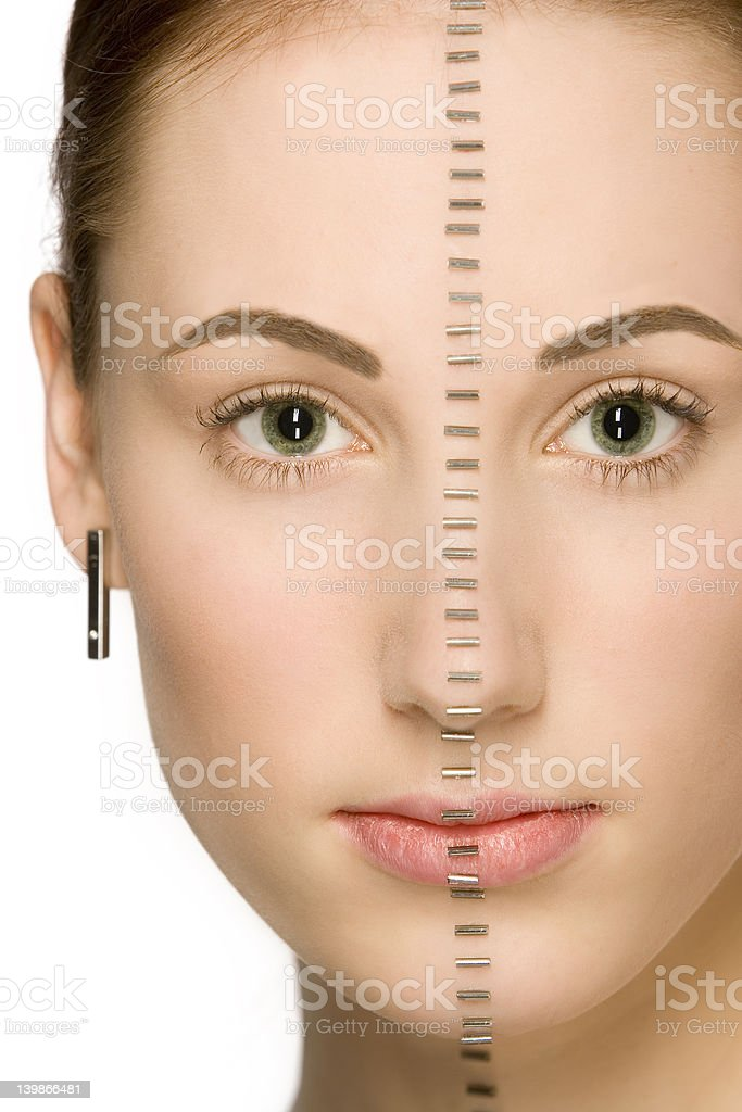 Cute 'zipped' face royalty-free stock photo