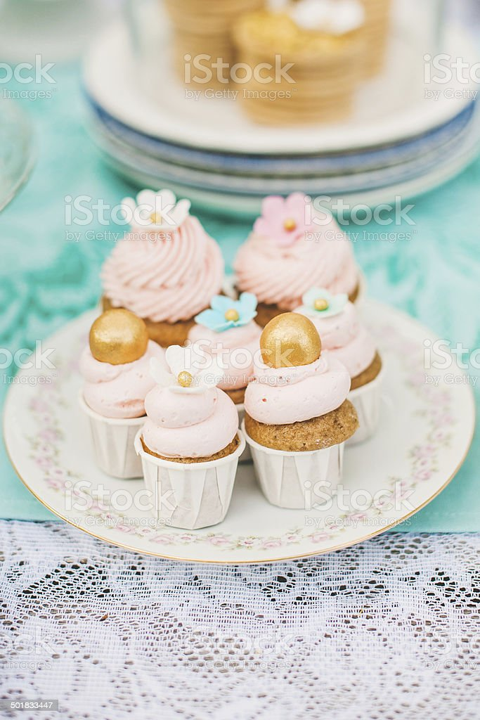 Cutest cupcakes royalty-free stock photo