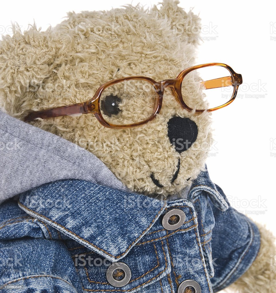 CuteTeddy Bear with Reading Glasses royalty-free stock photo