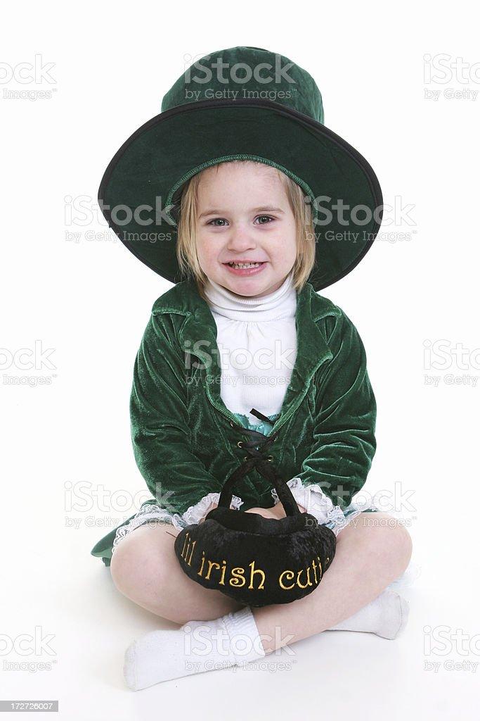 Cutie Leprechaun stock photo