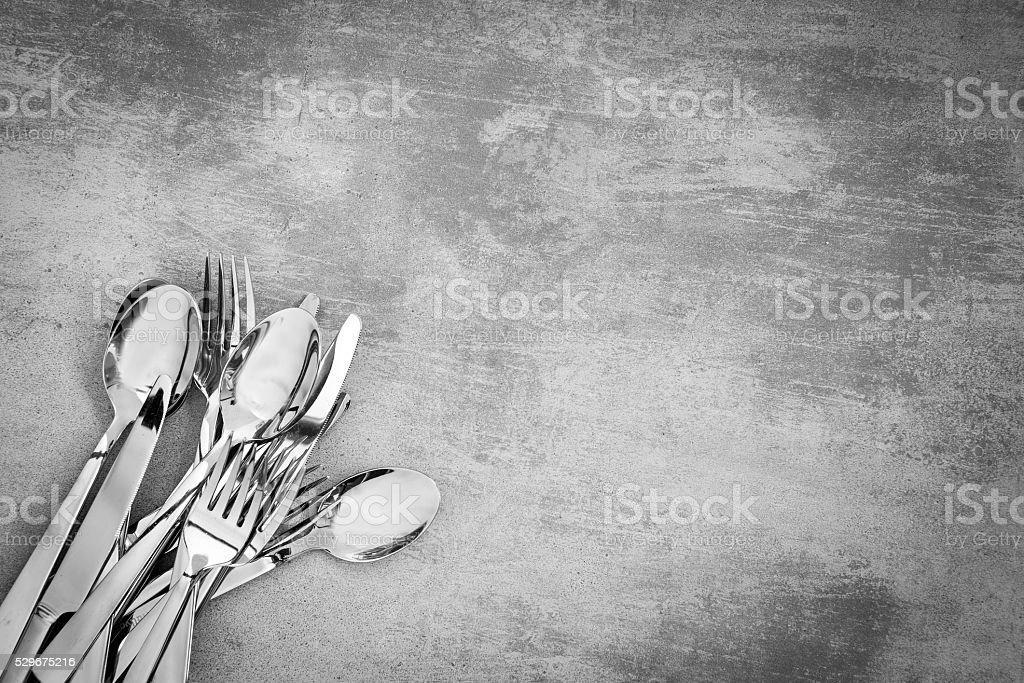 Cutlery in the corner stock photo