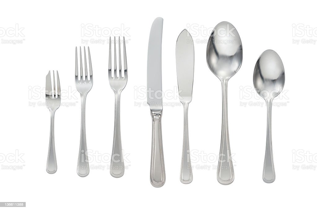 Cutlery Isolated royalty-free stock photo