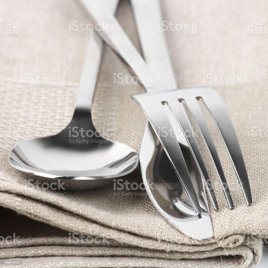 Cutlery set stock photo