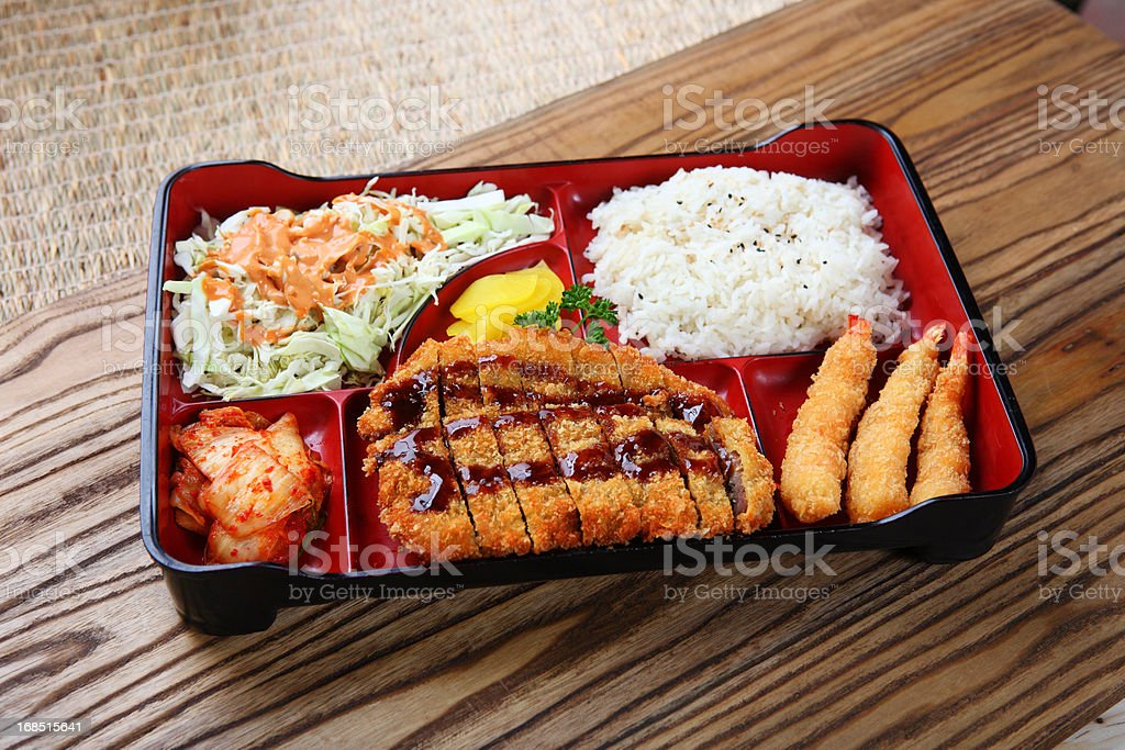 Cutlet Lunch Box royalty-free stock photo