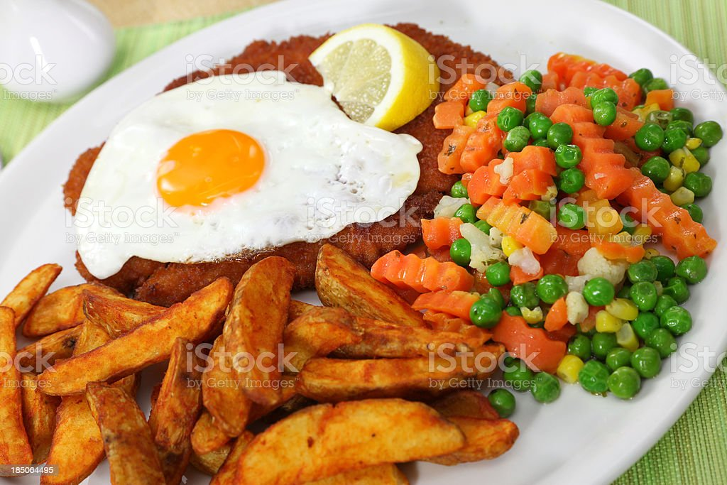 Cutlet or Hamburger Schnitzel royalty-free stock photo