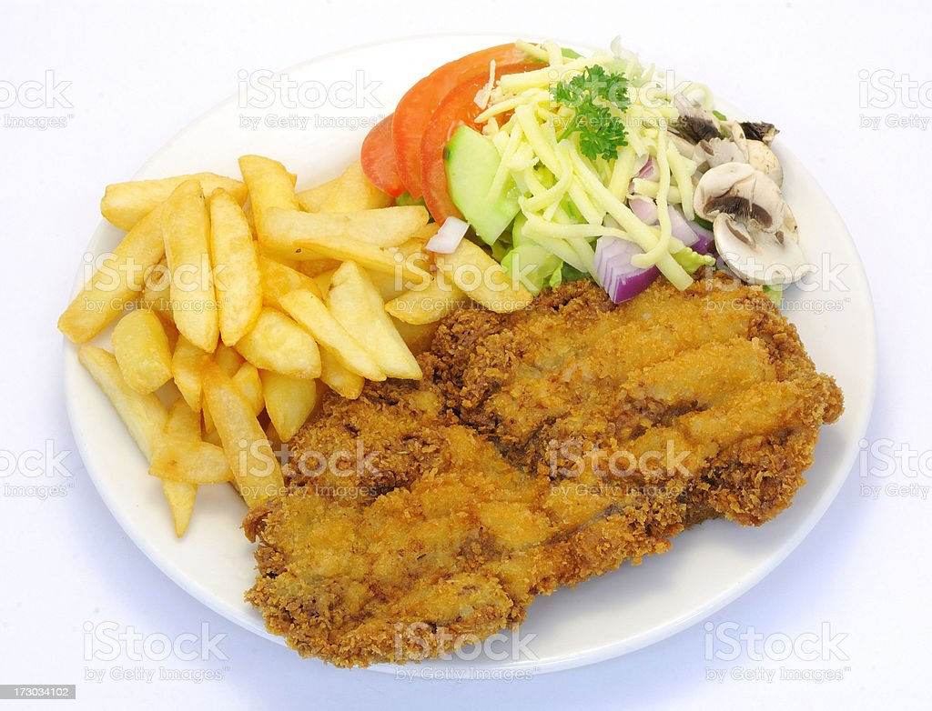 Cutlet royalty-free stock photo