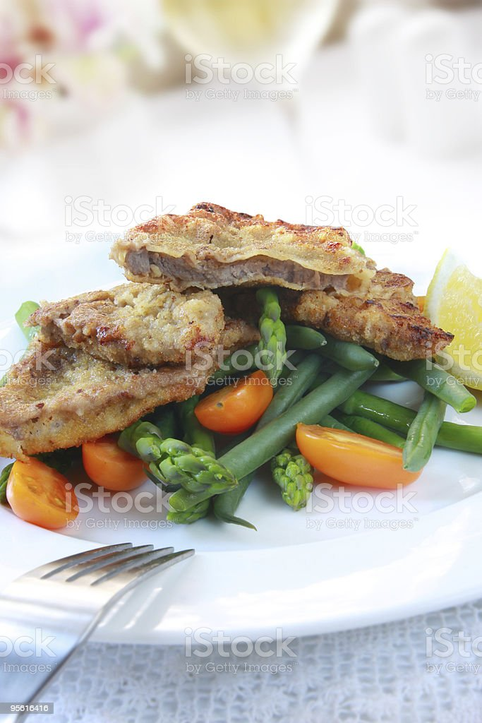 Schnitzel royalty-free stock photo