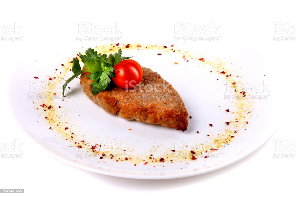 Cutlet with parsley stock photo