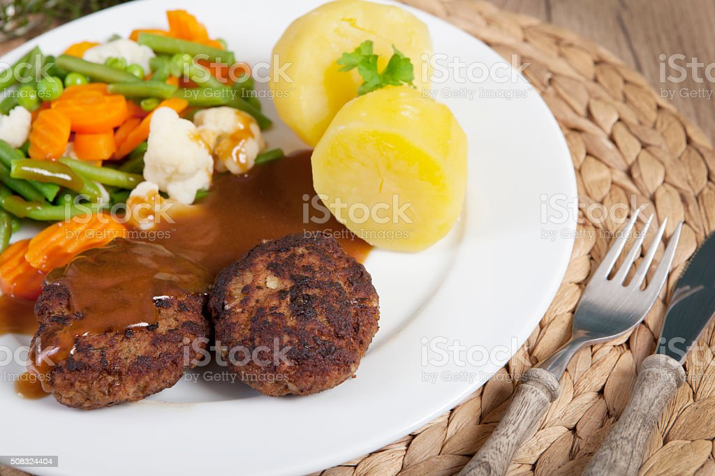 Cutlets vegetables stock photo