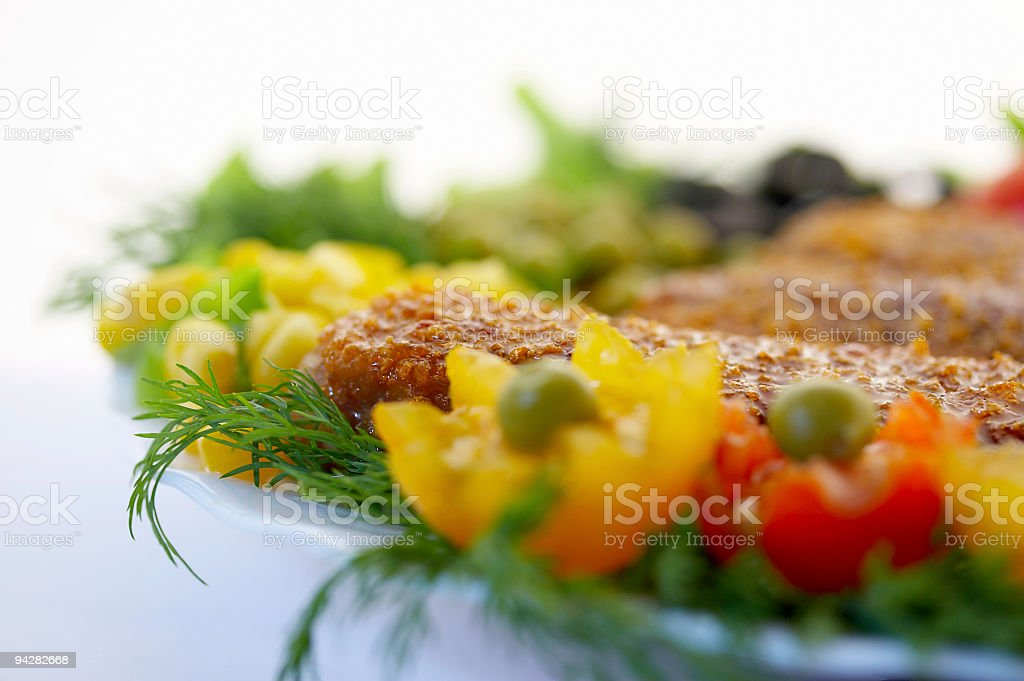 Cutlets with fennel royalty-free stock photo