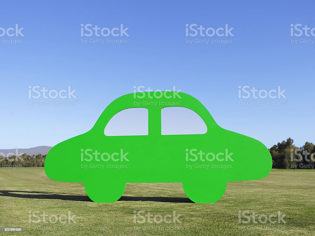Cutout car in field stock photo