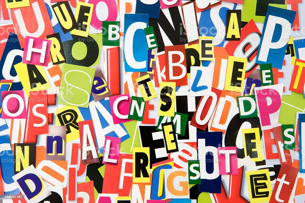 Cutout Letters stock photo