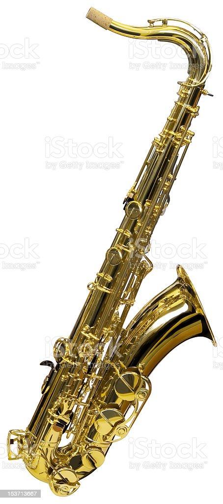 Cutout of Saxophone royalty-free stock photo