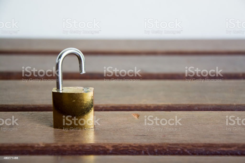 Cutted Lock stock photo