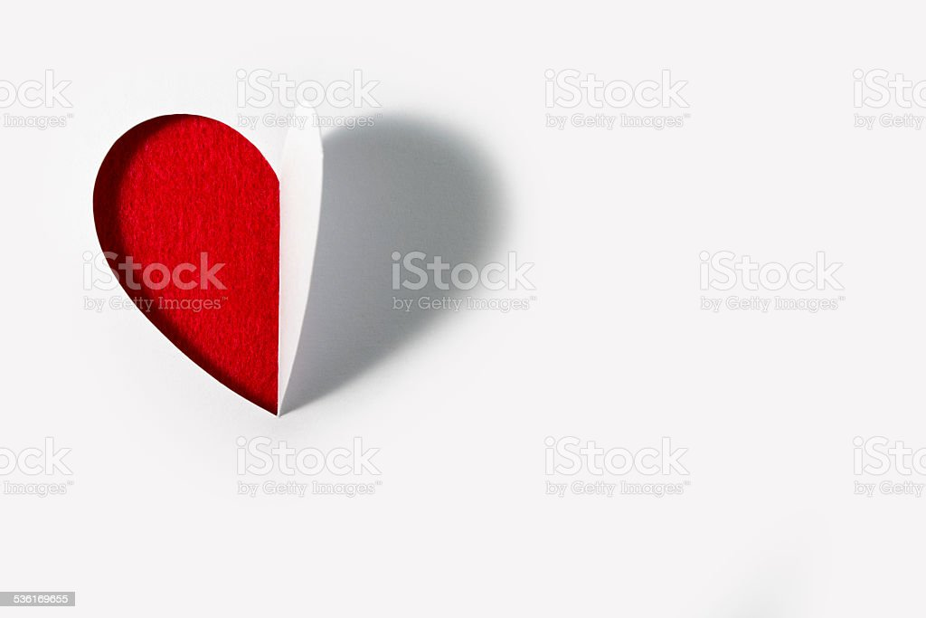 Cutted paper Heart Valentines Day stock photo