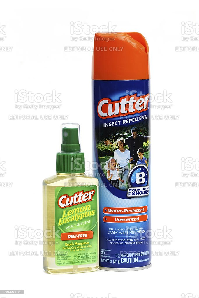 Cutter brand insect repellants product shot on white background stock photo