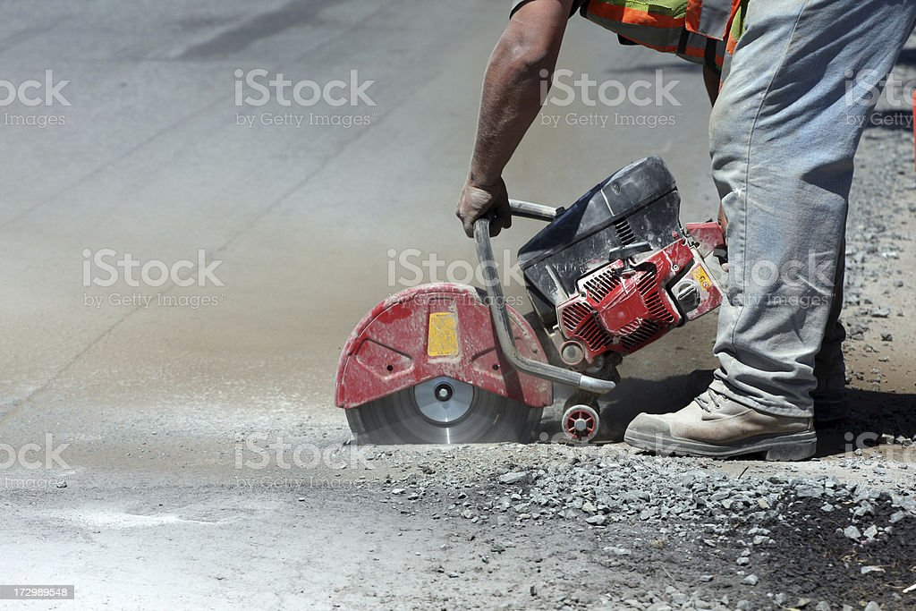 Cutting Asphalt royalty-free stock photo
