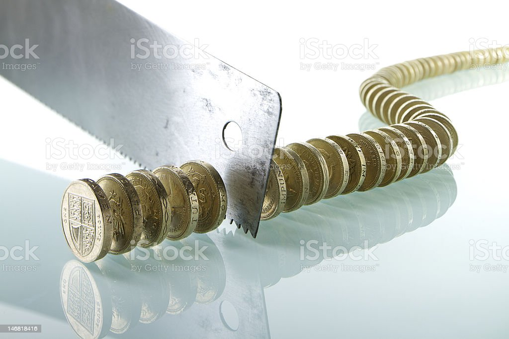 Cutting Back on Government Spending royalty-free stock photo