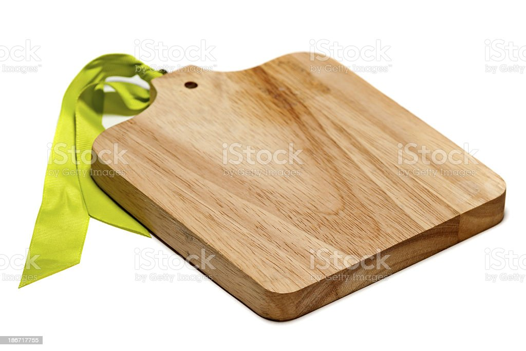 Cutting Board Isolated on White royalty-free stock photo