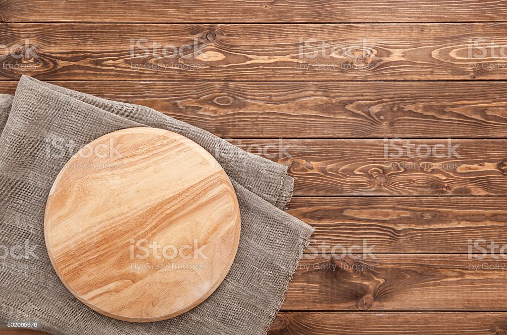 cutting board on wooden texture background stock photo