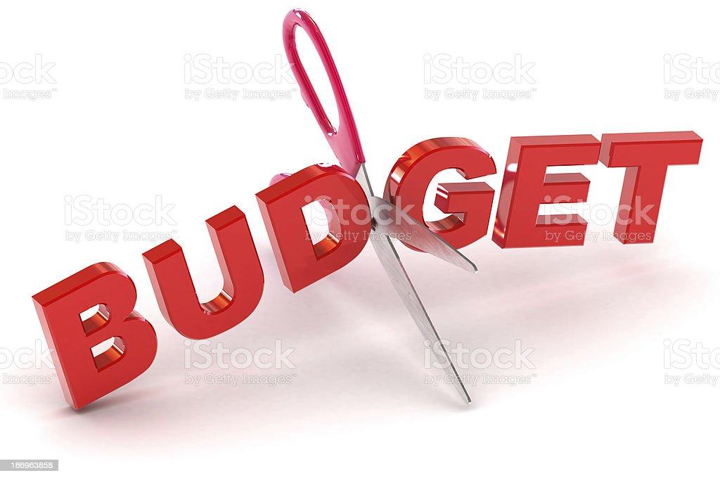 Cutting Budgets stock photo