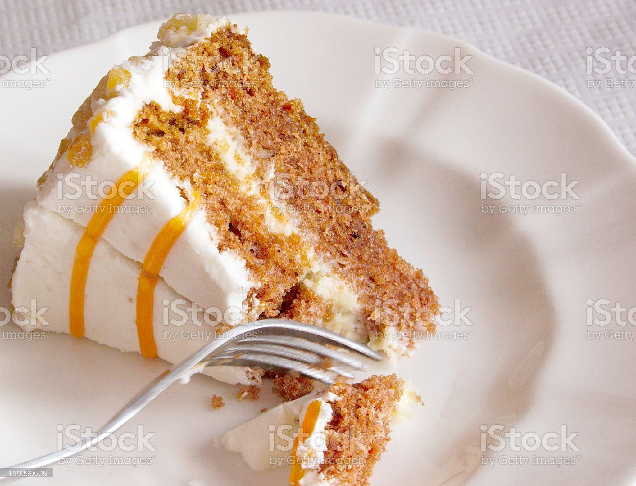 cutting cake royalty-free stock photo