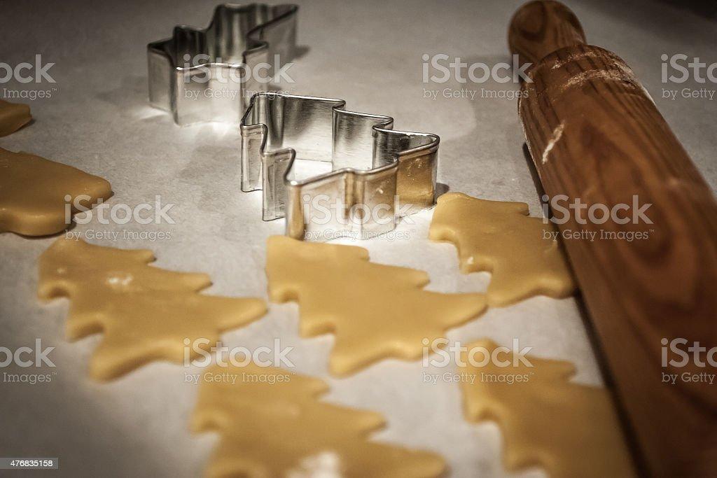 cookie formas de Natal foto royalty-free