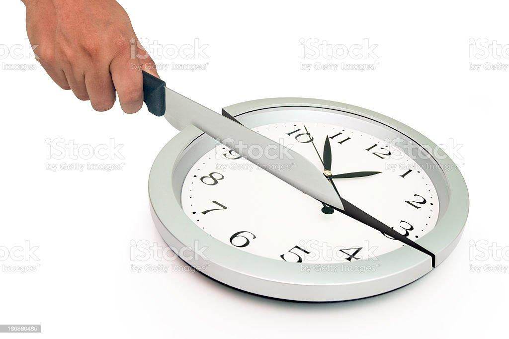 Cutting Clock stock photo