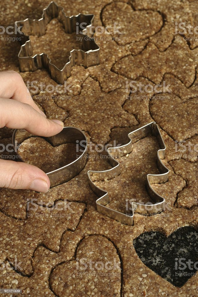 Cutting cookies royalty-free stock photo
