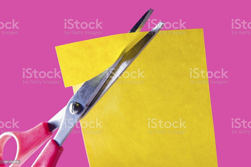 Cutting corners stock photo