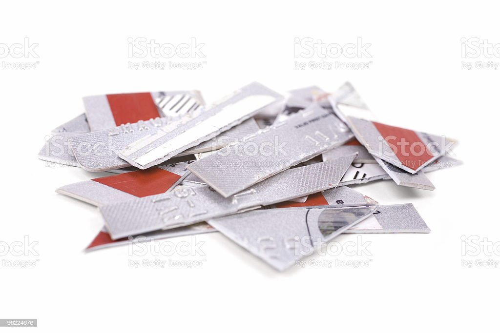 Cutting Credit Card stock photo