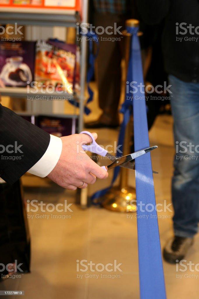 Cutting de ribbon 1 royalty-free stock photo