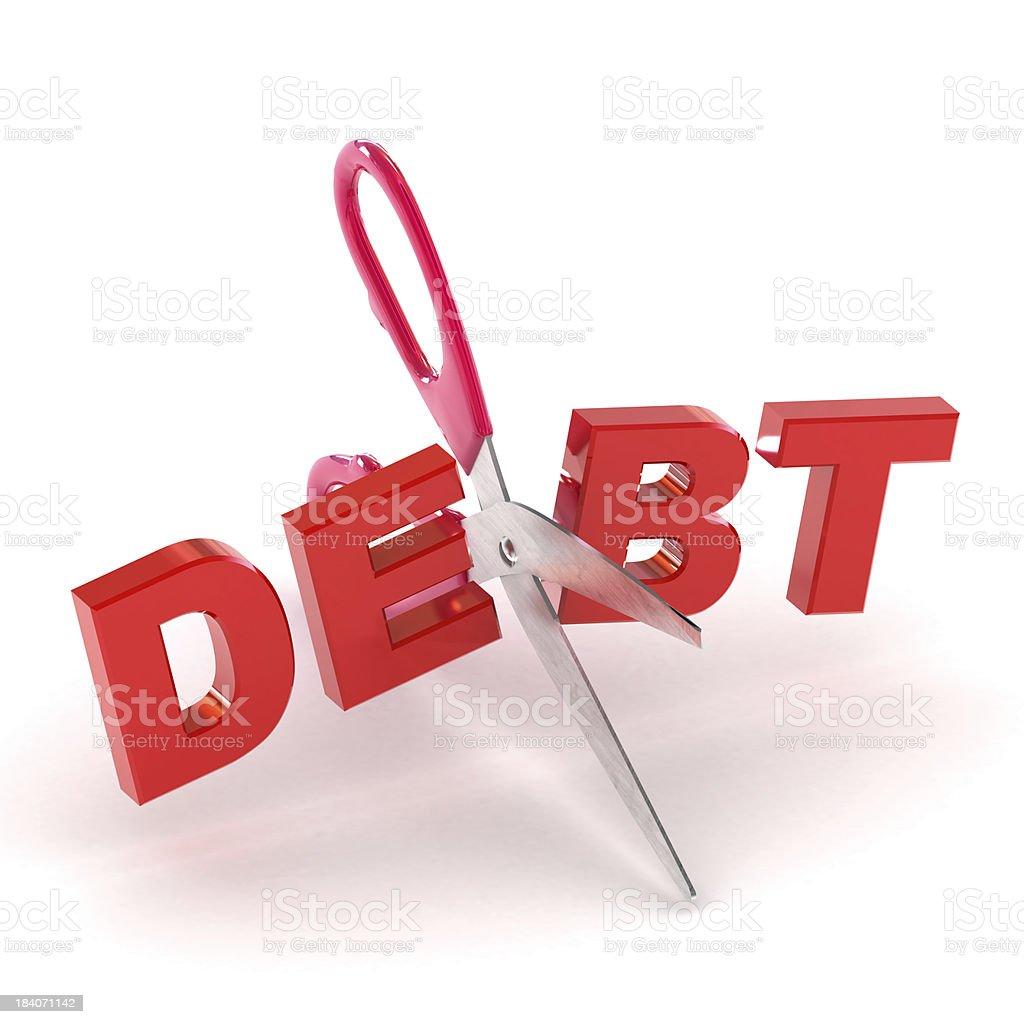 Cutting Debt stock photo