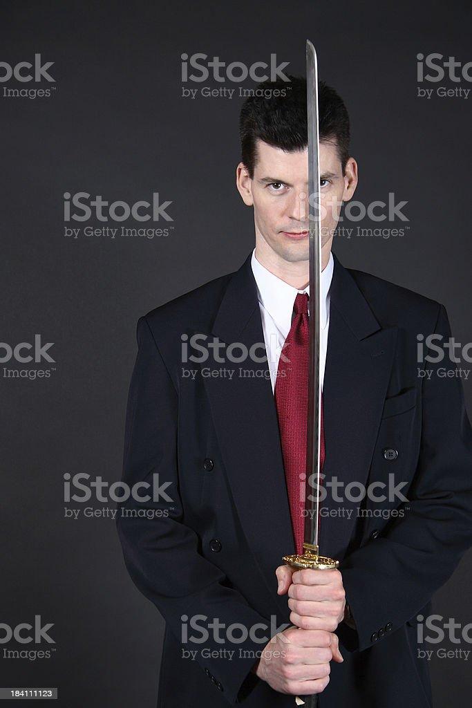Cutting Edge Businessman stock photo