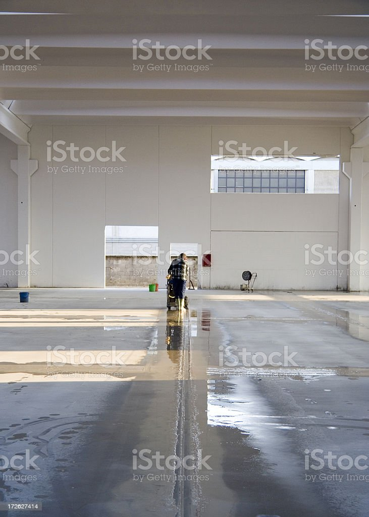 Cutting Expansion Joints stock photo
