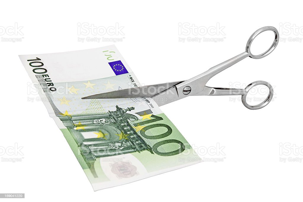 cutting expenses royalty-free stock photo