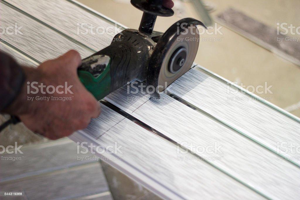Cutting grinding machine stock photo