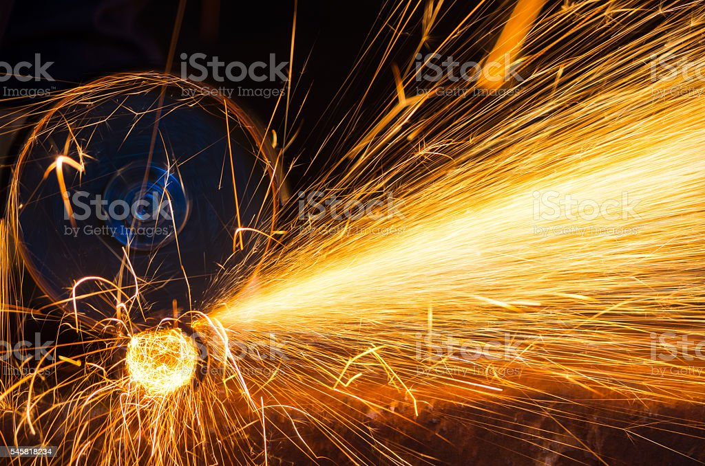 Cutting grinding wheel stock photo