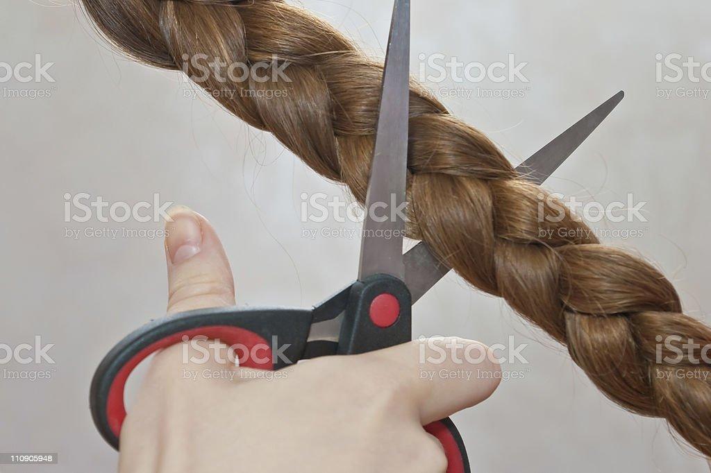 cutting hair royalty-free stock photo