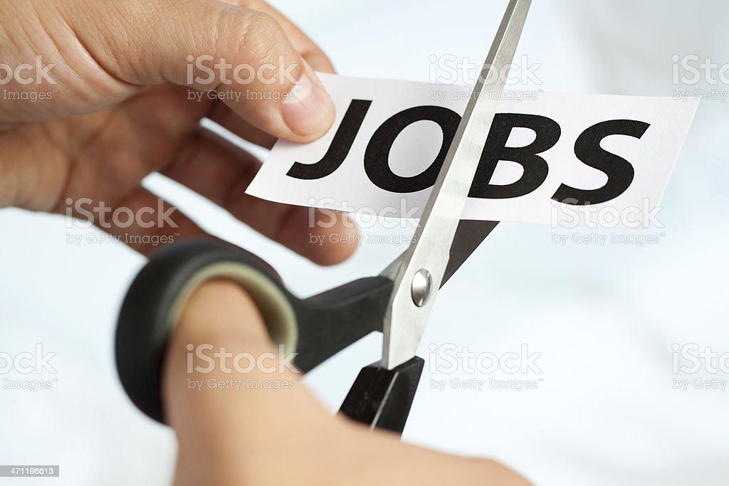 Cutting Jobs stock photo